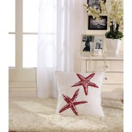 Starfish Printed Cotton Cushion Cover (DK-LG002-3)
