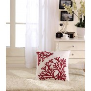 Coral Printed Cotton Cushion Cover (DK-LG003-3)