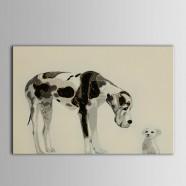Peinture à l'Huile Imprimée sur Toile en Fibre Chimique - Animal (DK-PH-DH24)