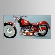 Peinture à l'Huile Imprimée sur Toile en Fibre Chimique - Moto (DK-PH-DH49)
