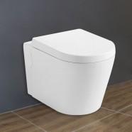 Cuvette de Toilette Murale/Suspendue au Mur - Blanc (DK-ZBQ-11025)