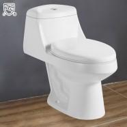 Toilette Monopièce à Double Chasse et à Action Siphonique (DK-ZBQ-12027)