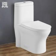 Toilette Monopièce à Double Chasse et à Action Siphonique, Certifié par cUPC (DK-ZBQ-12207)