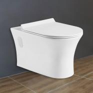 Cuvette de Toilette Murale/Suspendue au Mur - Blanc (DK-ZBQ-12249D)