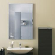 36 x 24 po Miroir Mural Salle de Bain Classique Rectangulaire sans Cadre - Accrochage Vertical (DK-OD-B002A)