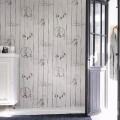 Papier Peint Imitation Lambris en PVC à Effet 3D pour Décorer le Mur Intérieur (57 sq.ft/Rouleau) (DK-SE451301)