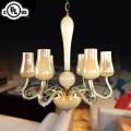 Lustre à 6 Lumières - Verre Style Moderne/Diamètre de 24 po (HD9328-6)