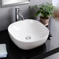 Lavabo-Vasque Rond de Dessus de Comptoir en Céramique Blanche (CL-1264)