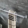 Barres Porte-Serviettes Double de 23.4 po - Laiton Fini Chrome (50310)