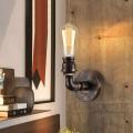 Applique Murale Tuyau d'Eau Vintage en Fer à 1 Lumière (DK-6105-B1)