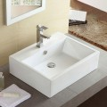 Decoraport Lavabo-Vasque Rectangle de Dessus de Comptoir en Céramique Blanche (CL-1114)