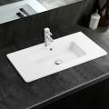 Lavabo Blanc de Dessus du Comptoir pour Vanité Salle de Bain (CL-4103-100)