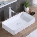 Lavabo Rectangulaire Blanc en Céramique de Dessus du Comptoir (CL-1320)
