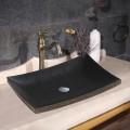 Lavabo Rectangulaire Noir en Marbre de Dessus du Comptoir (CL-S011)