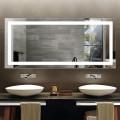 70 x 32 po miroir de salle de bain LED avec capteur infrarouge (DK-OD-CK010-AG)