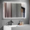 40 x 28 Po Miroir de Salle de Bain LED Horizontal avec Bouton Tactile (DK-CK205)