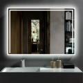 40 x 28 Po Miroir de Salle de Bain LED Horizontal avec Bouton Tactile (DK-CK207)