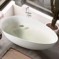 BATHPRO 67 Po Baignoire Autoportante Haut de Gamme - Acrylique Blanc Mat (DK-MF-94778)