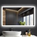 DECORAPORT 40 x 24  Po Miroir de Salle de Bain LED/Miroir Chambre avec Bouton Tactile, Anti-Buée, Luminosité Réglable, Montage Vertical & Horizontal (NT11-4024)
