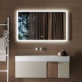 DECORAPORT 60 x 36 Po Miroir de Salle de Bain LED avec Bouton Tactile, Anti-Buée, Luminosité Réglable, Montage Vertical & Horizontal (D103-6036)