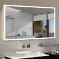 DECORAPORT 55 x 36 Po Miroir de Salle de Bain LED avec Bouton Tactile, Anti-Buée, Luminosité Réglable, Bluetooth, Montage Vertical & Horizontal (D121-5536A)