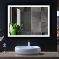 DECORAPORT 48 x 36 Po Miroir de Salle de Bain LED/Miroir Chambre avec Bouton Tactile, Anti-Buée, Luminosité Réglable,Bluetooth,Montage Vertical & Horizontal (D124-4836A)