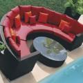 Salon de Jardin en Rotin avec Coussin (JMS-635)
