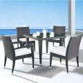 Salle à Manger de Jardin de 5 Pièces: Table à manger, 2 Chaises, 2 Chaises sans Bras(JMS-1619)