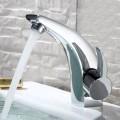 Robinet de Lavabo&Vasque - Simple Trou Simple Levier - Laiton Fini Chrome (6117)