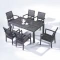 Salle à Manger de Jardin de 7 Pièces: Table à Manger, 6 Chaises (JMS-6121)