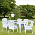 Salle à Manger de Jardin de 5 Pièces: table à manger, 2 Chaises, 4 Chaises sans Bras (JMS-6169)