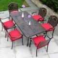 Salle à Manger de Jardin de 7 Pièces: Table à Manger, 6 Chaises (ZL-911)