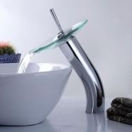 Robinet à Cascade de Lavabo&Vasque - Simple Trou Simple Levier - Laiton Fini Chrome (5990)