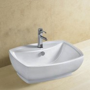 Decoraport Lavabo-Vasque Rectangle de Dessus de Comptoir en Céramique Blanche (CL-1090)