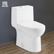 Toilette Monopièce Économique d'Eau en Céramique à Double Chasse et à Action Siphonique (DK-ZBQ-12213)