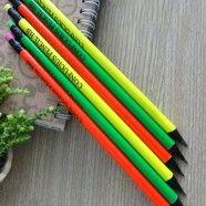Crayon HB Cylindrique Laqué Fluo, 2.0mm, 12/Paquet (DK-PP1522)