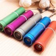Lampe de Poche DEL/Stylet Tactile Capacitif 2-en-1 avec Bouchon Anti-poussière, 1.0mm, Capuchon, 3/paquet (DK-YZB12)