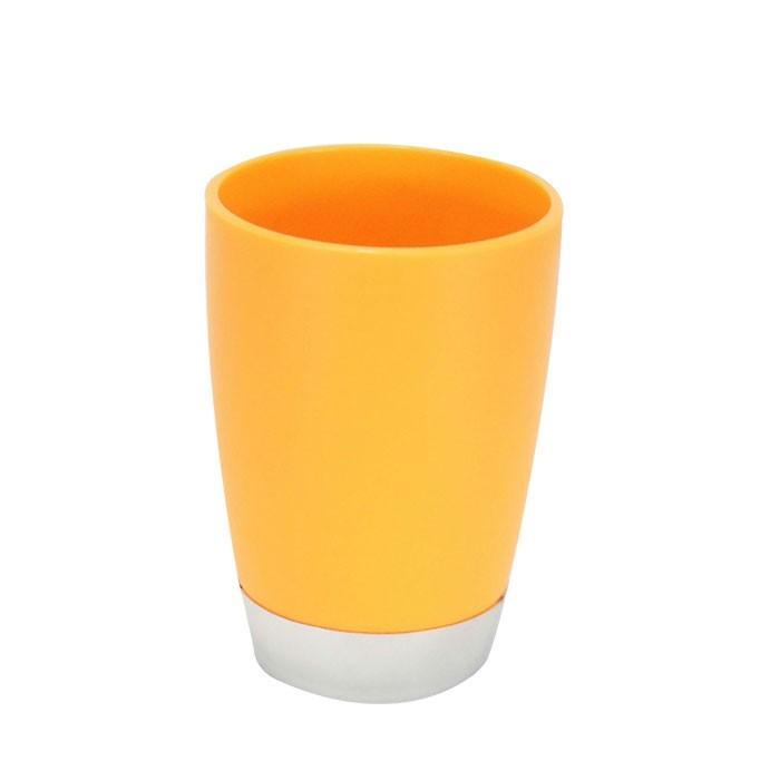 Set 4 accessoires salle de bain orange dk st011 for Accessoires salle de bain couleur orange