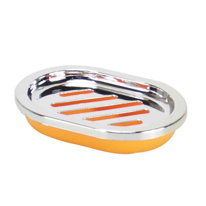 Set 4 accessoires salle de bain orange dk st011 - Accessoires salle de bain couleur orange ...