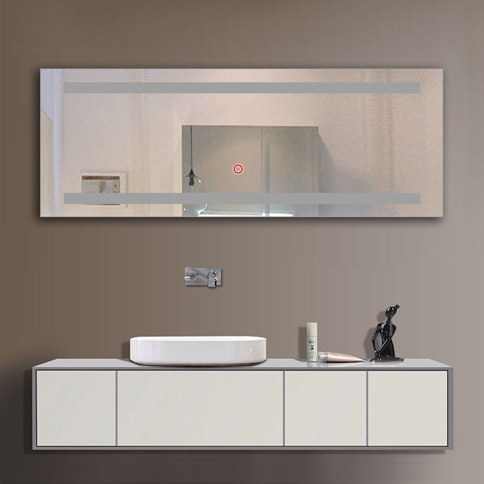 65 x 24 po miroir led salle de bain avec l interrupteur tactile dk od c230 decoraport canada. Black Bedroom Furniture Sets. Home Design Ideas