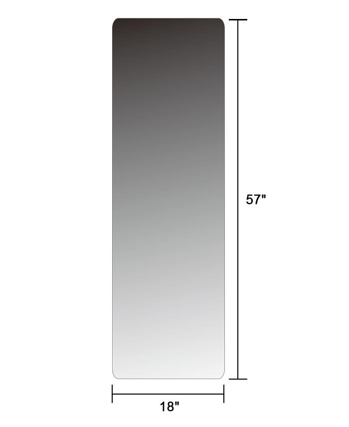 Wall mounted full length wall mirror 18 x57 extra large for Large long wall mirrors
