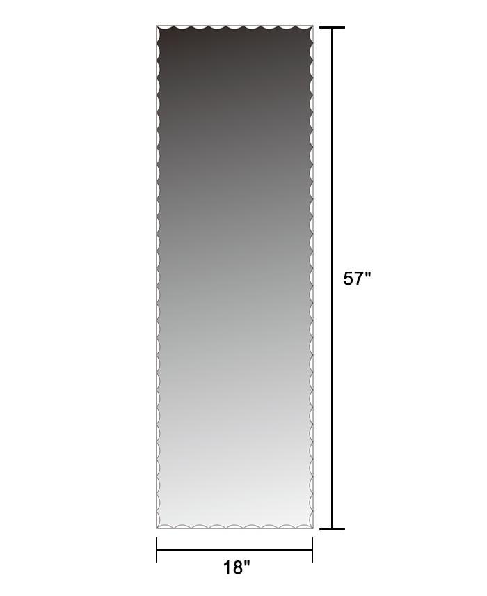 Miroir mural vertical chambre coucher 18 po x 57 po dk for Miroir vertical