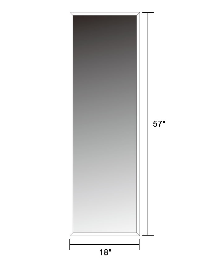 Wall mounted full length wall mirror 18 x57 extra large for Wall size mirror
