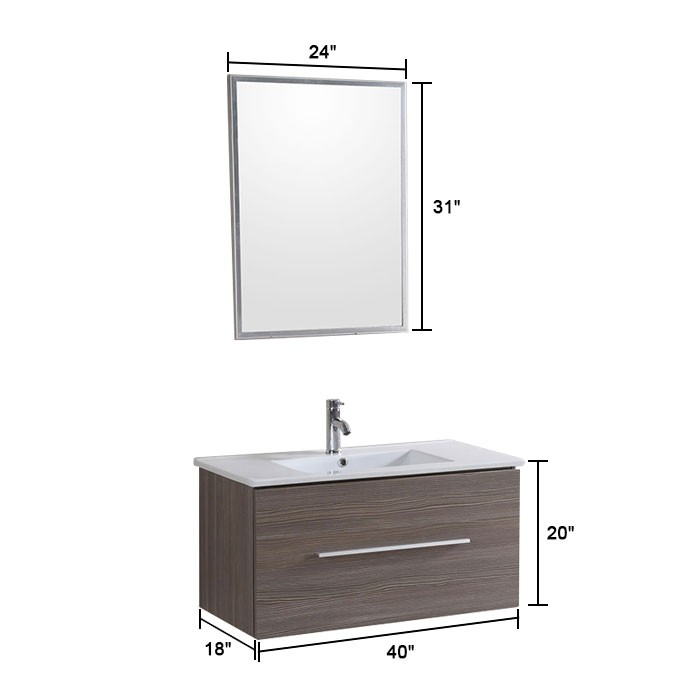 Bathroom Vanity Modern Bathroom Vanity Set Wall Mount Single Sink And Mirror