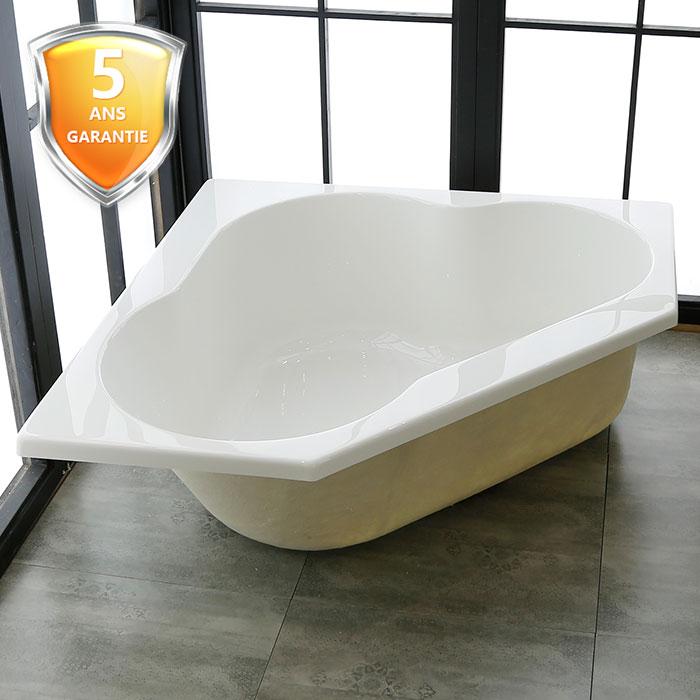 47 po triangle baignoire encastrable en acrylique de salle de bain blanc de niege dk pw. Black Bedroom Furniture Sets. Home Design Ideas