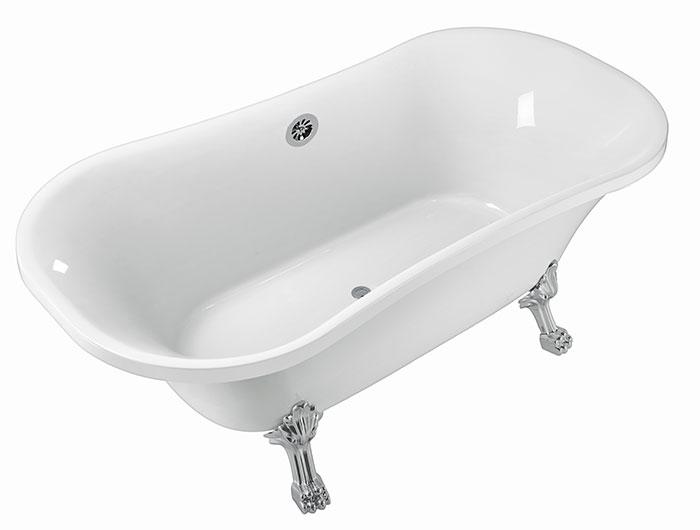 60 po baignoire sur pattes en acrylique blanc dk pw a12601 decoraport canada. Black Bedroom Furniture Sets. Home Design Ideas
