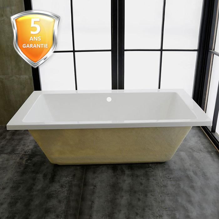 59 po baignoire encastrable blanche en acrylique de salle for Baignoire largeur 60