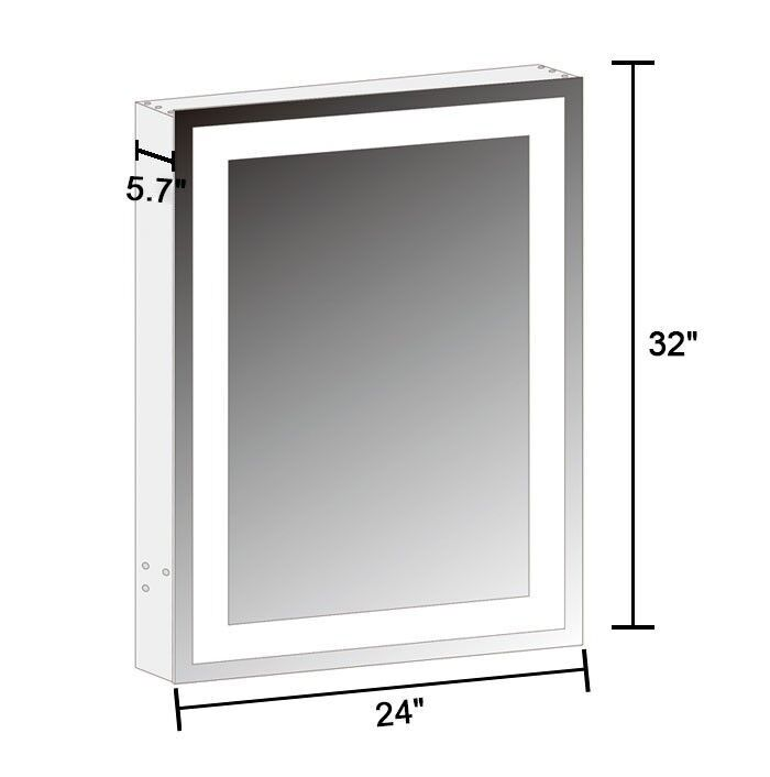 Armoire-miroir LED