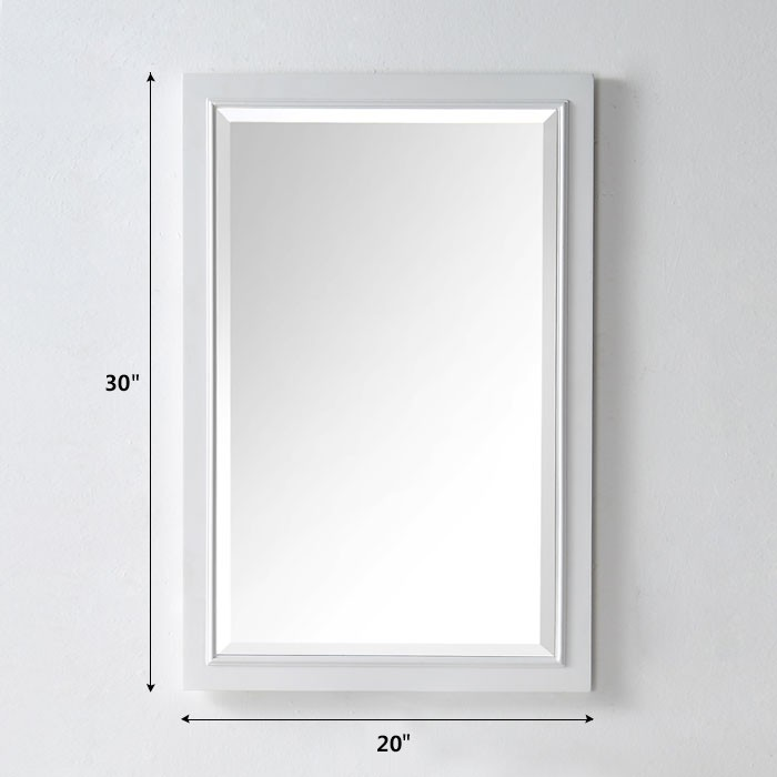 20 X 30 In Bath Vanity D 233 Cor Mirror With White Frame Dk