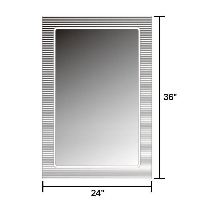 36 x 24 po miroir mural salle de bain classique for Miroir mural rectangulaire sans cadre